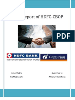 Merger Report of HDFC-CBOP by Atmakuri Rammohan