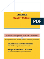 Lecture 6 - Quality Culture