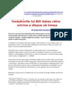 ÎNVĂȚĂTURILE LUI BILL GATES