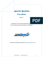 Free Sports Quotes eBook Vol 1