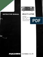 FDK Multi-2700 Instruction Manual