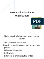 Lecture 2 Individual Behaviour in ion