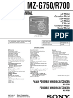 Sony MZ-R700G750 Service Manual