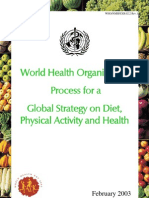 Global Strategy on Diet-Physical Activity and Health
