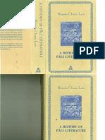 A History of Pali Literature