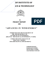Advances in Wind Energy