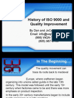 History of Iso and Quality Improvement