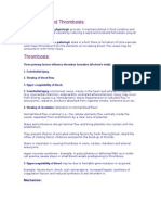 is and Thrombosis