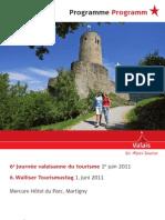 Programme Journée Valaisanne du Tourisme 1.06.2011