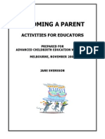 Becoming a Parent Activites for Educators