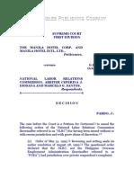 The Manila Hotel Corporation and Manila Hotel International Ltd. vs. NLRC, Et Al., G.R. No. 120077, October 13, 2000