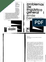 "Émile Benveniste, ""Problemas de lingüística general I"" (""Estructura de las relaciones de persona en el verbo""; ""Las relaciones de tiempo en el verbo francés""; ""De la subjetividad en el lenguaje"")"