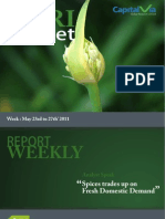 Agri Commodity Reports for the Week (23rd-27th May '11)