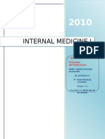Internal Medicine (i) Log Book Black Color Typing