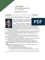 Pa Environment Digest May 23, 2011