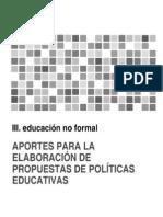 Educación No Formal - Una oportunidad para aprender