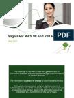 Sage MAS90 Roadmap May 2011