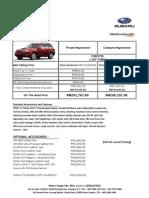 Subaru Pricelist
