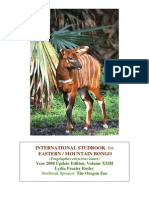 2008 Bongo International Studbook