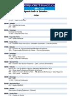 Agenda Junho a Setembro 2011