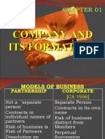 Chapter 01 - Company & Its Formation