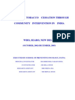 Report on Tobacco Cessation Through Community Intervantion In India