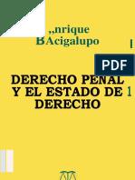 Derecho Penal y El Estado de Derecho - Bacigalupo Enrique - 2005