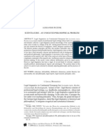 Peczenik, A. Scientia Iuris – an Unsolved Philosophical Problem