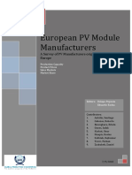 European PV Manufacturers Report 2010
