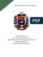 LEY ORGÁNICA DE LA ADMINISTRACIÓN FINANCIERA DEL SECTOR