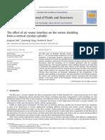 Effect of Air Wat Interface on Vortex Shedding Frm Vertical Circular Cylindet