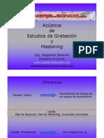 Controles de Estudios de Grabac