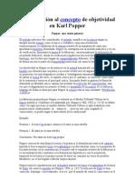 Aproximación al concepto de objetividad en Karl Popper