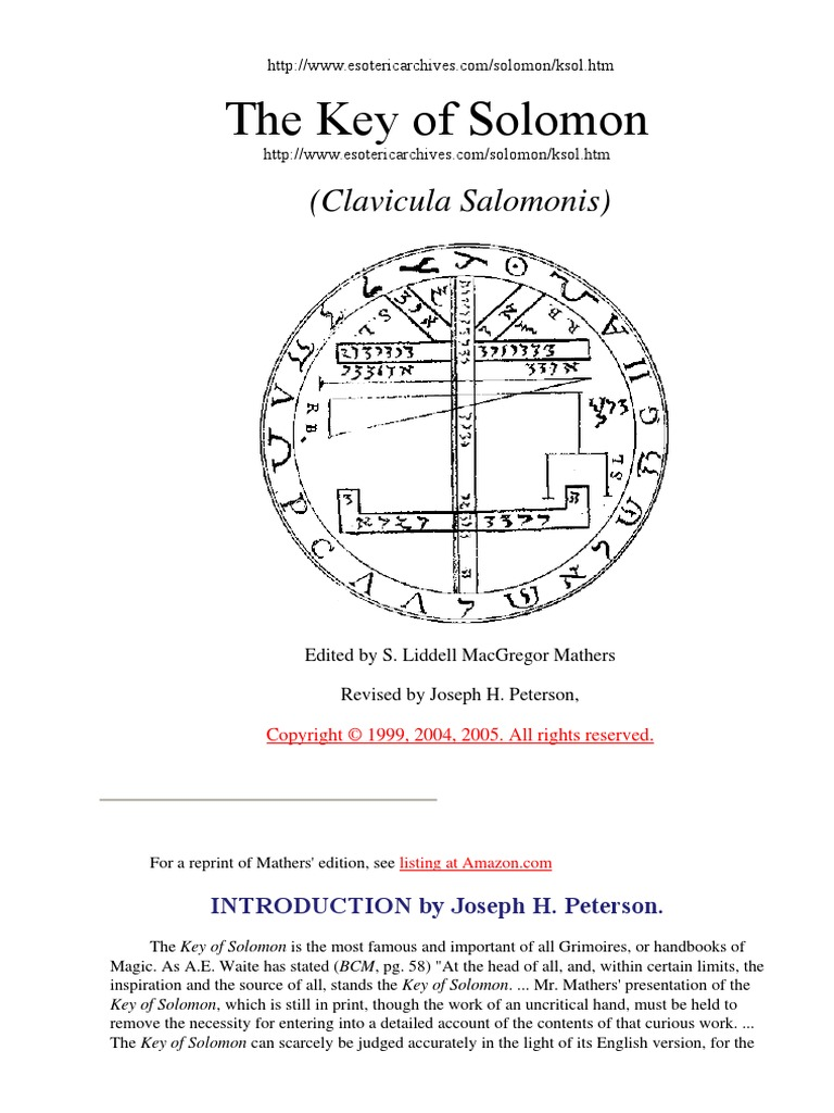 Clavicola di salomone ridolta pdf gratis
