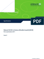 IGCSE 2009 Science Double Award 4SC0 Specification ISSUE 2 March09