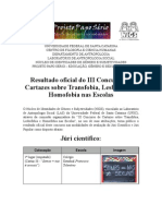 Resultado Oficial -  III Concurso de Cartazes (NIGS)