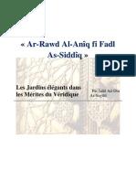 Ar-Rawd Al-Anîq fi Fadl As-Siddîq - Les Jardins élégants dans les Mérites du Véridique par Jalâl Ad-Dîn As-Suyûtî