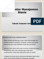 Pengertian Manajemen,Bisnis Dan Klasifikasi Bisnis 2003