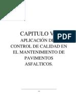 Aplicacion de Control de Calidad en Le Mantenimiento de Pavimentos Asfalticos
