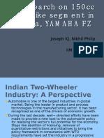Research on 150cc Bike Segment in India,