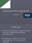 Expresiones regulares. PHP. 2008. Escuela ORT. Informática. Sede Almagro