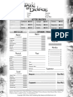 World of Darkness Sheet