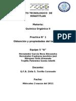 practica n° 1 d organica II