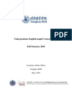 Tsinghua UG English-Taught Courses Syllabi (Fall 2010)