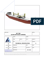 20K DWT Bulk Carrier Tech Spec