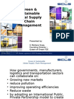 ' Green and Sustainable Global Supply Chain Managemen't speech at SCLG Summit 18th May 2011