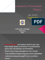 Re Constructive Periodontal Surgery ,Dondy.