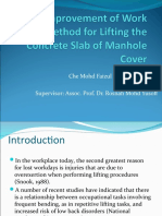 Improvement of Work Method for Lifting the Concrete