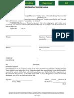 Affidavit of Succession
