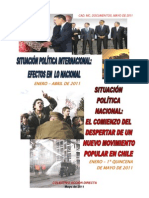 ANALISIS SITUACION POLITICA INTERNACIONAL-NACIONAL CHILE ENERO-MAYO-2011